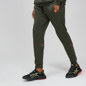 MP Rest Day Men's Piped Calf Joggers - Army Green