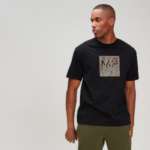 MP Men's Rest Day Camo Square T-Shirt - Black