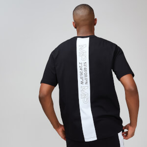 MP Rest Day Men's Stripe Graphic T-Shirt - Black