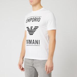 Emporio Armani Men's Full Front Logo T-Shirt - White
