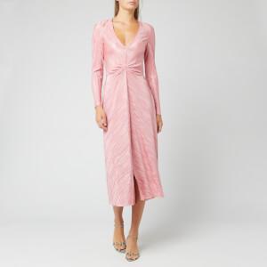 ROTATE Birger Christensen Women's Number 7 Pleat Dress - Bridal Rose