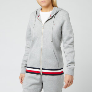 Tommy Hilfiger Women's Heritage Zipthrough Hoodie - Light Grey Heather