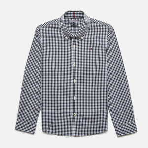 Tommy Kids Boys' Long Sleeve Gingham Shirt - Sky Captain