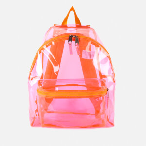 Eastpak Women's Authentic Transparent Padded Pak'r Backpack - Fluo Pink Film