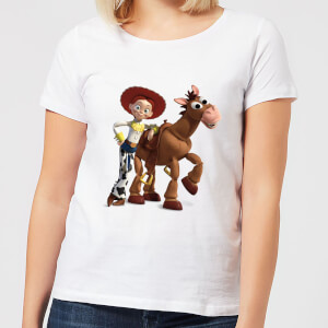 Toy Story 4 Jessie And Bullseye Women's T-Shirt - White