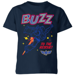 Toy Story 4 Buzz To The Rescue Kids' T-Shirt - Navy