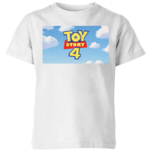 Toy Story 4 Clouds Logo Kids' T-Shirt - White
