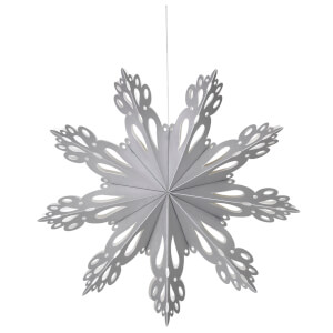Broste Copenhagen Paper Snowflake Christmas Decoration - Medium - Silver