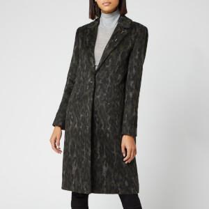 Ted Baker Women's Illena Leopard Print Cocoon Coat - Khaki