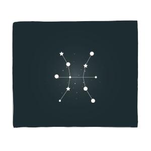 Pisces Star Sign Fleece Blanket