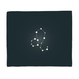 Leo Star Sign Fleece Blanket