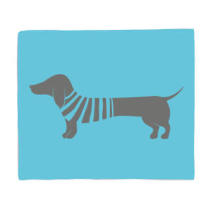 Sausage Dog In Jumper Fleece Blanket