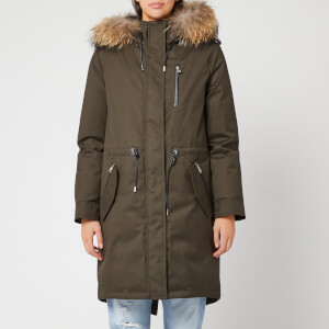 Mackage Women's Rena Twill Parka - Army