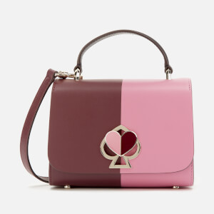 Kate Spade New York Women's Nicola Bicolor Twistlock Small Top Handle Bag - Cherry
