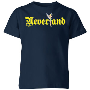 Disney Peter Pan Tinkerbell Neverland Kids' T-Shirt - Navy