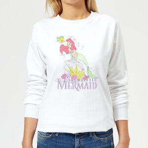Disney Little Mermaid Women's Sweatshirt - White