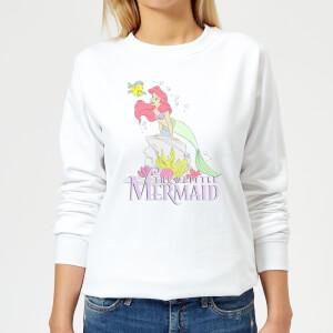 Disney Little Mermaid Women's Sweatshirt - White