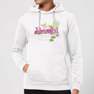 Disney Bambi Kiss Hoodie - White
