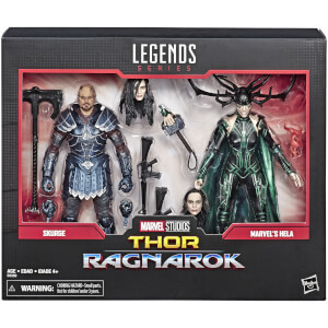 Hasbro Marvel Legends Series Skurge and Marvel's Hela Action Figures (2-pack)