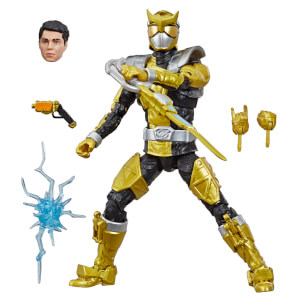 Statuetta del Ranger Oro da Beast Morphers serie Power Rangers Lightning Collection, Hasbro