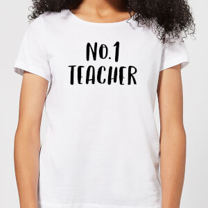 No.1 Teacher Women's T-Shirt - White