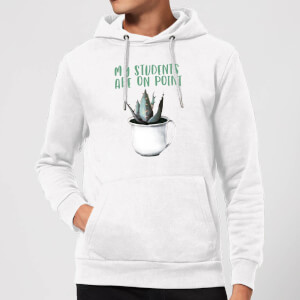 My Students Are On Point Hoodie - White