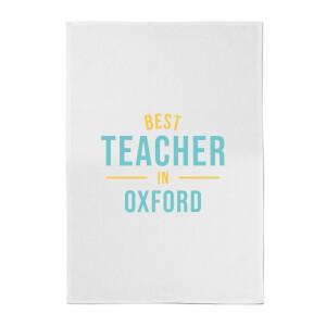 Best Teacher In Oxford Cotton Tea Towel