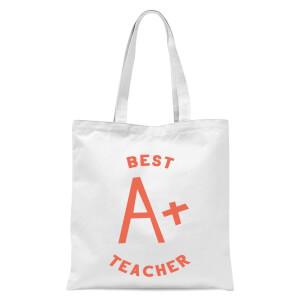Best Teacher Tote Bag - White