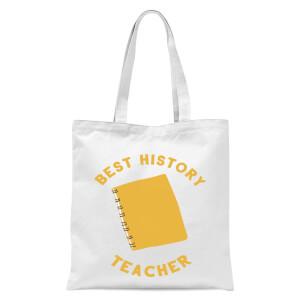 Best History Teacher Tote Bag - White