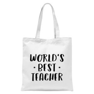 World's Best Teacher Tote Bag - White