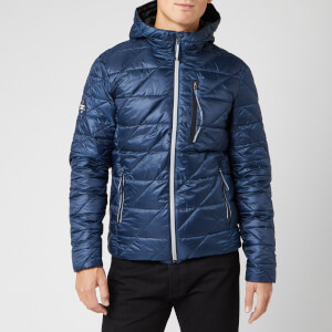 Superdry Men's Diagonal Quilt Fuji Coat - Lauren Navy