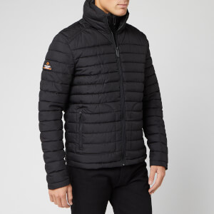 Superdry Men's Double Zip Fuji Coat - Washed Black
