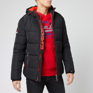 Superdry Men's Sports Puffer Jacket - Jet Black
