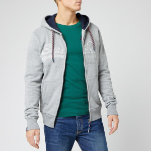 Superdry Men's Downhill Racer App Zip Hoody - Downhill Grey Marl