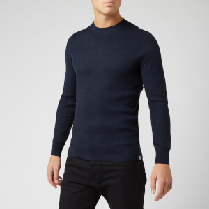 Superdry Men's Academy Crew Neck Jumper - Deep Navy