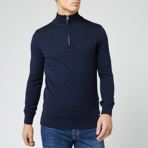 Superdry Men's Downhill Racer Henley Top - Dark Navy