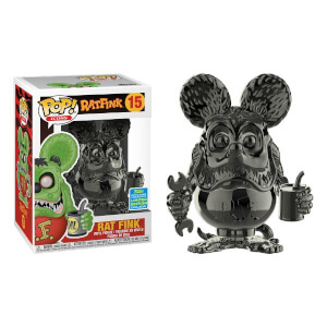 SDCC 2019 Rat Fink Grau Chrom EXC Pop! Vinyl Figur