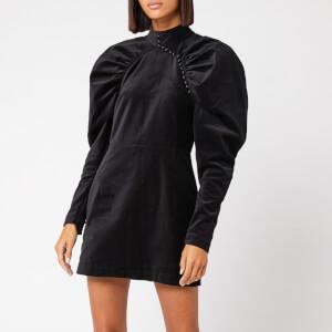 ROTATE Birger Christensen Women's Number 1 Velvet Dress - Black
