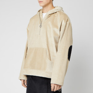 Drôle De Monsieur Men's Zipped Corduroy Hoodie - Beige