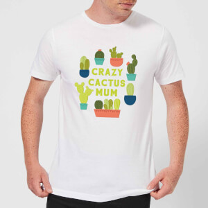 Crazy Cactus Mum Men's T-Shirt - White