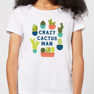Crazy Cactus Man Women's T-Shirt - White