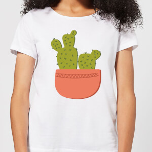 Two Potted Cacti Women's T-Shirt - White