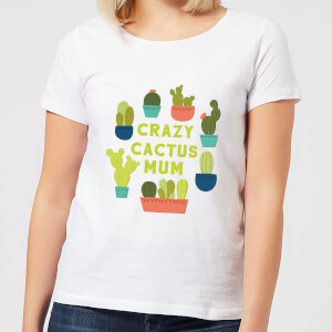 Crazy Cactus Mum Women's T-Shirt - White