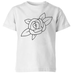 Rose Kids' T-Shirt - White