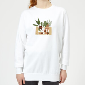 Vegetable Box Women's Sweatshirt - White