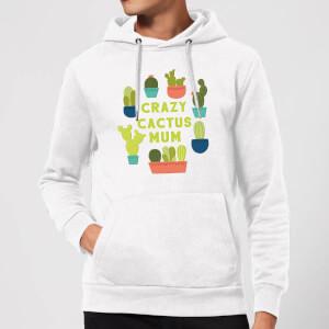 Crazy Cactus Mum Hoodie - White