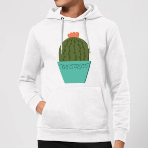 Cactus With Flower Hoodie - White