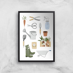 Garden Items Art Print