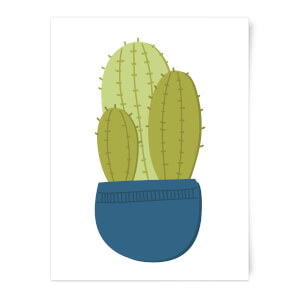 Three Potted Cacti Art Print