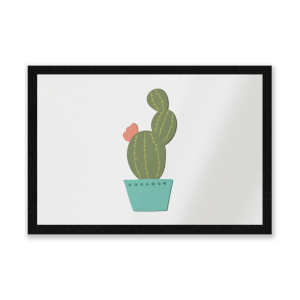 Single Potted Cactus Entrance Mat